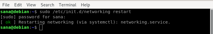 Clear DNS cache by restarting network service
