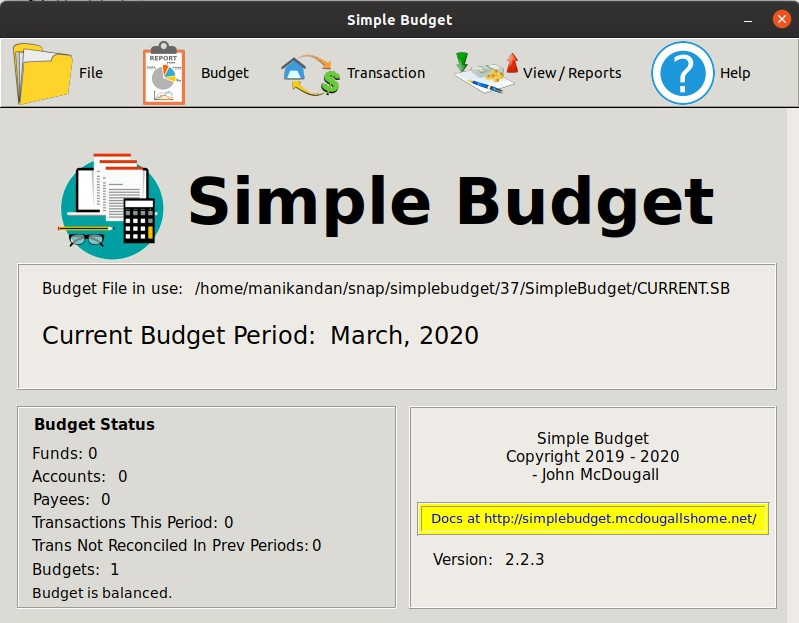 How to Install Simple Budget on Ubuntu – Envelope Style Personal Finance Software