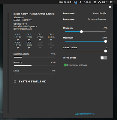 CPUFREQ Power Manager GTK