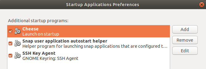 Applications that start automatically when Ubuntu boots