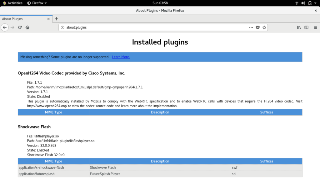 Check Installed Plugins