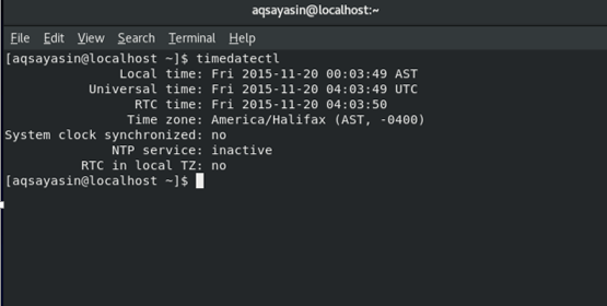 Set date and time in CentOS 8