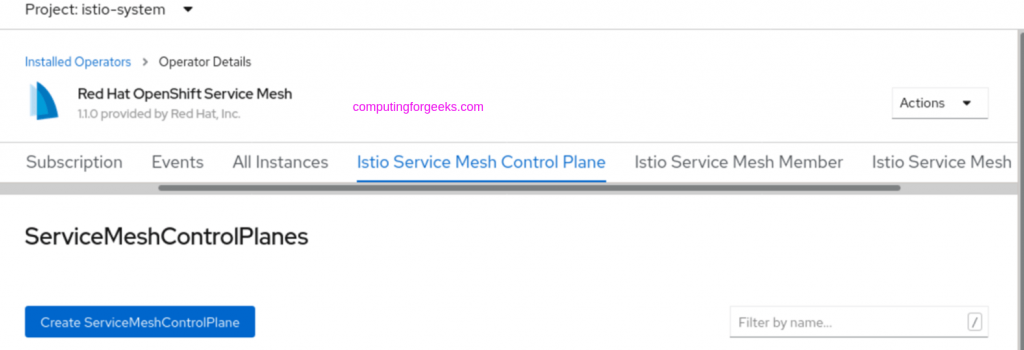 How to install Istio Service Mesh on OpenShift 4.x
