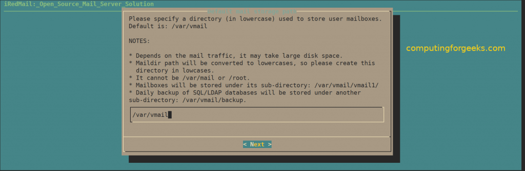 How to install iRedMail mail server on CentOS 8