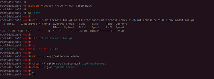 Add Linux users to Mattermost
