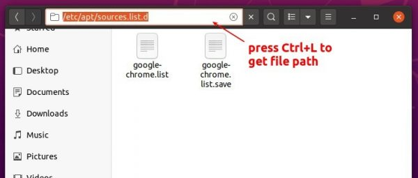 [Quick Tip] Enable text file path entry on Ubuntu 20.04