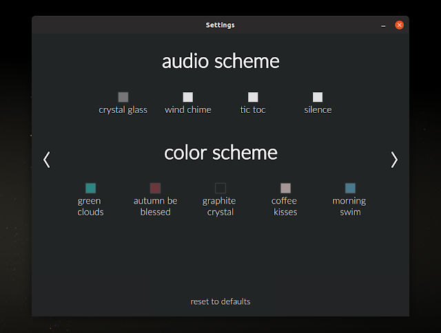Flexible sound and color scheme