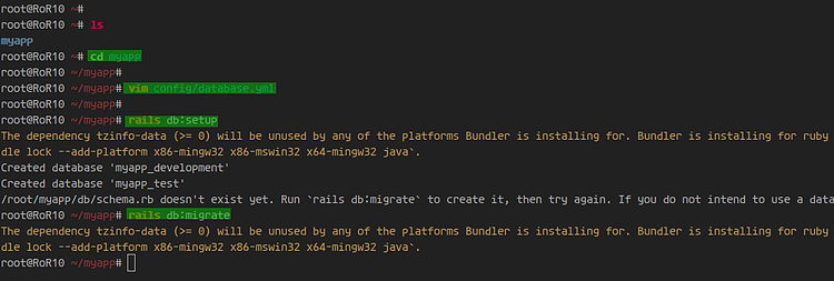 Create a Ruby on Rails project