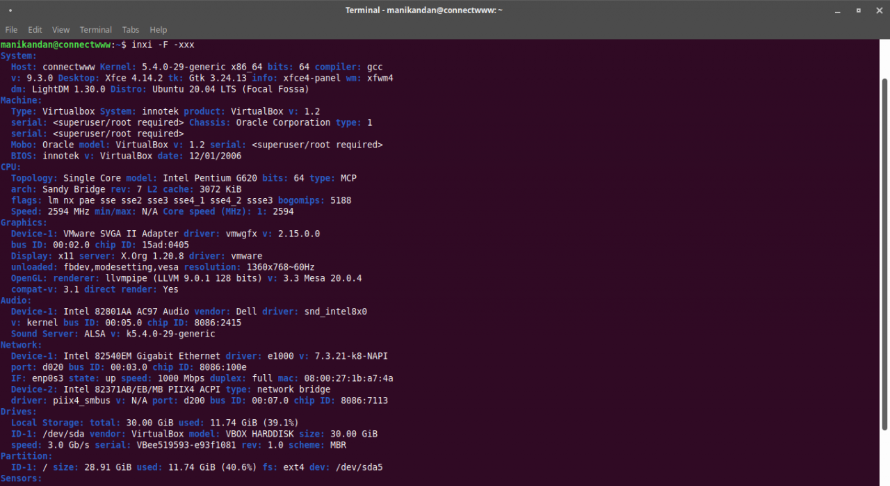 How to Install Inxi on Ubuntu and Fedora – Linux System Information Tool
