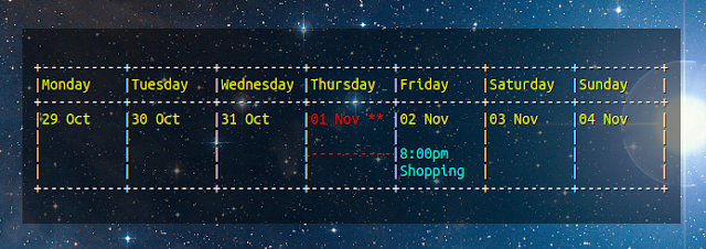 gcalcli conky weekly view