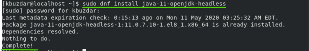 Install Java without a head