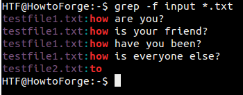 Grep mode for getting files