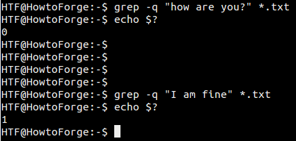 Grep does not show output