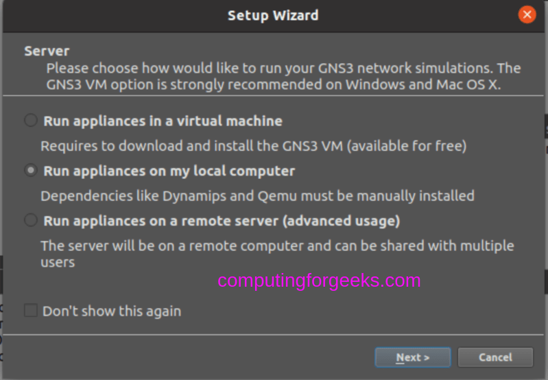 How to install GNS3 on Ubuntu 20.04 Linux