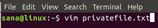 Open file with Vim
