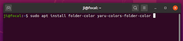 How to Fix 'Folder Color' Files Extension in Ubuntu 20.04