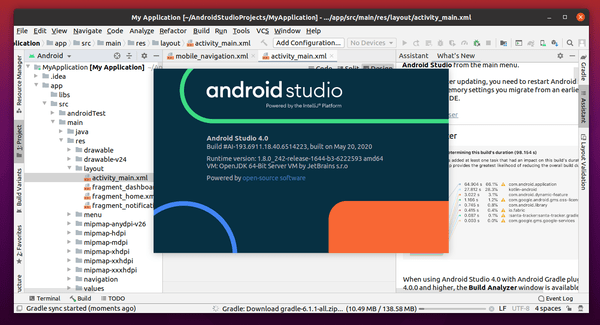 Android Studio 4.0 Released! How to Install in Ubuntu 20.04