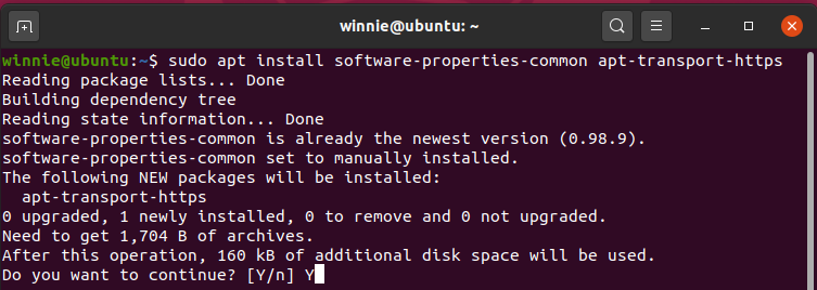 Install common Ubuntu 20.04 LTS software properties