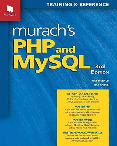 PHP and MySQL by Murach (3rd edition)
