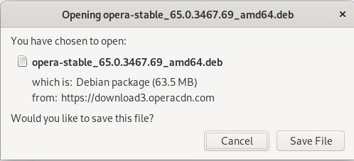 Download Opera Debian Package