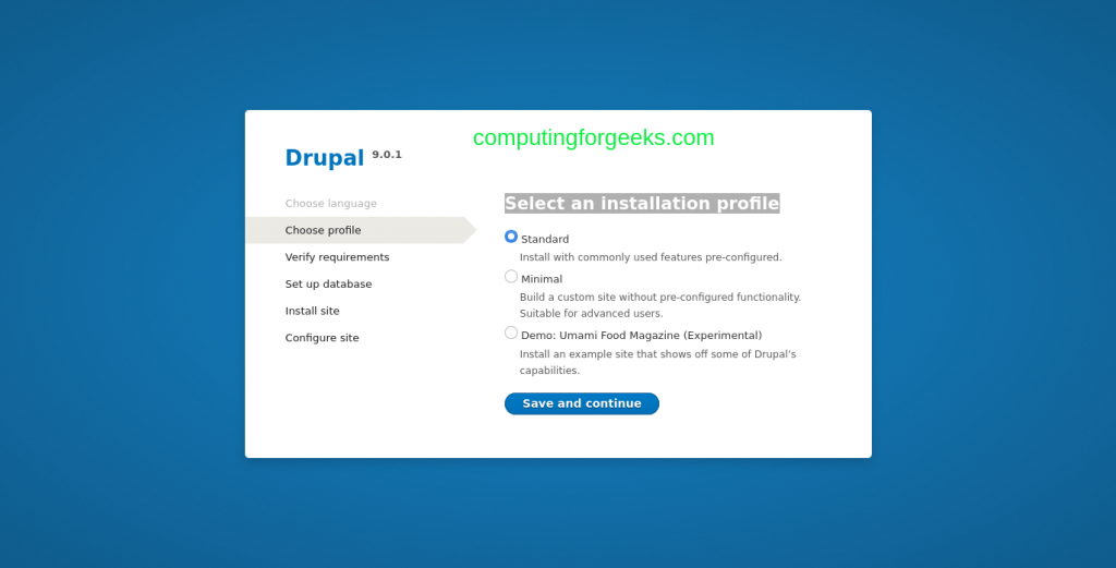 How to install Drupal 9 CMS on Ubuntu 20.04