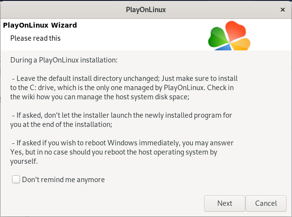 PlayOnLinux Wizard