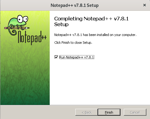 Launch Notepad ++