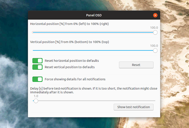 Change gnome shell notification bubble position