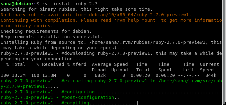 Install the latest version of Ruby