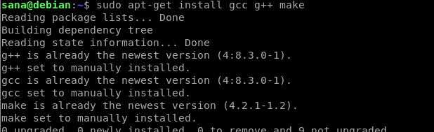 Install gcc and compiler tools