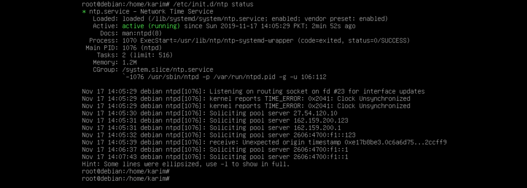 How to set up NTP server and client on Debian 10