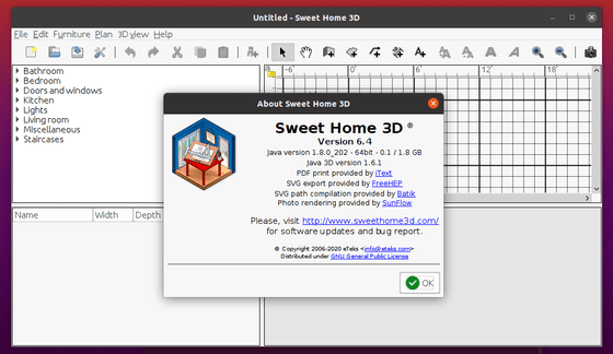 Sweet Home 3D 6.4 Released! How to Install in Ubuntu