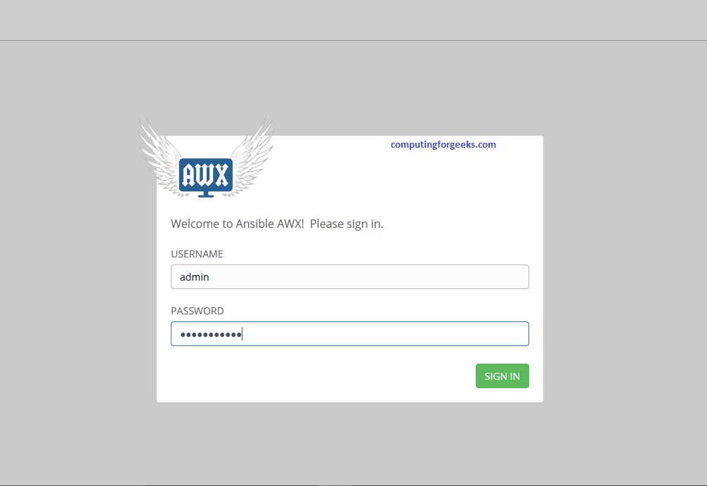 Install and configure Ansible AWX on CentOS 8
