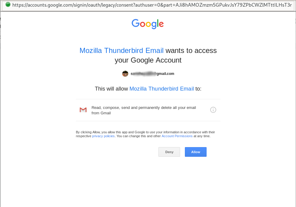 Grant access to your email account