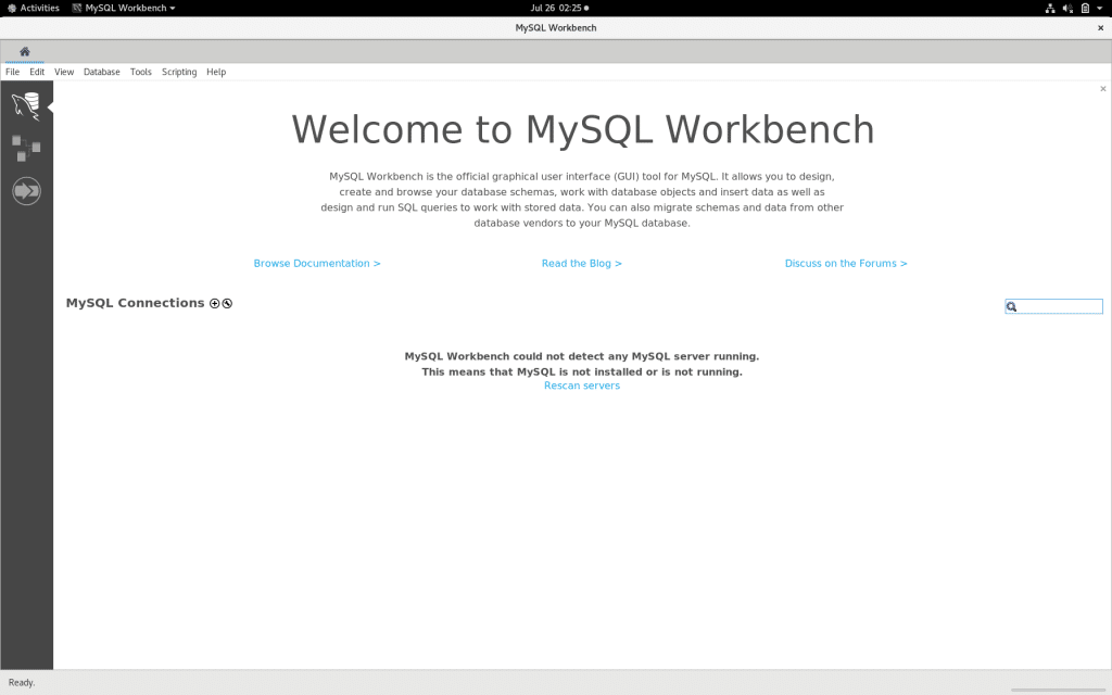 How to install MySQL Workbench on CentOS 8