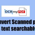 How to Convert Scanned PDF to Text Searchable PDF on Ubuntu – Install OCRmyPDF on Ubuntu