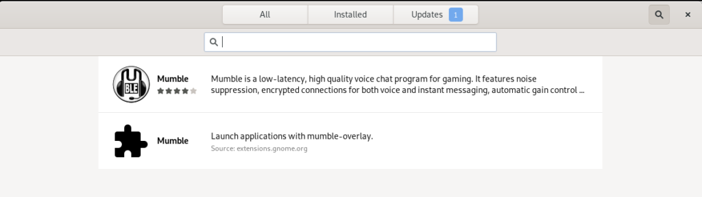Mumble Voice Chat software