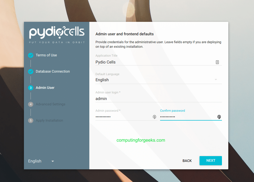 Install Pydio Cells file sharing on CentOS 8