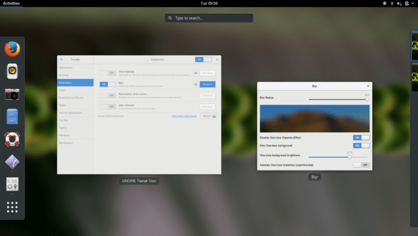 How to apply blur effect on Ubuntu 20.04 Gnome desktop