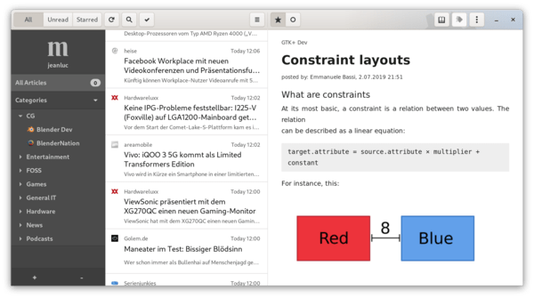 NewFlash-The latest new GTK feed reader for Gnome desktops