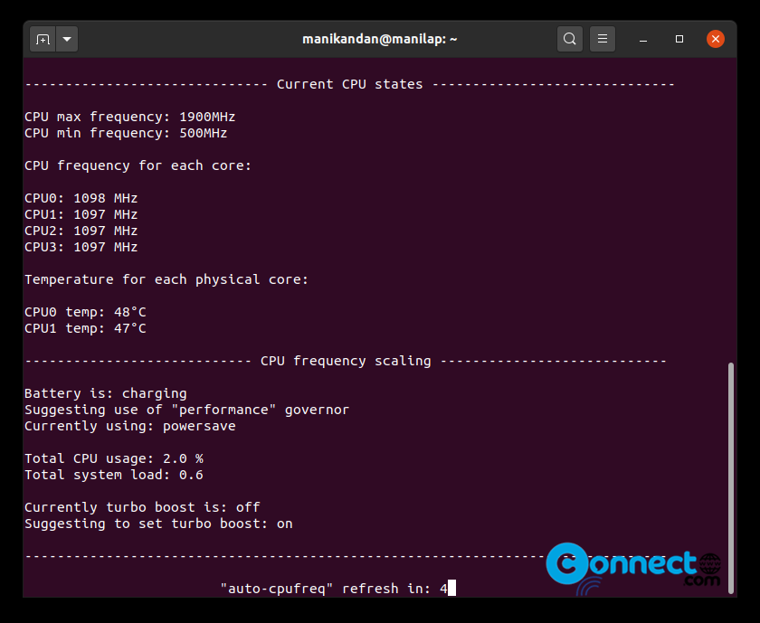 How to Optimize CPU Speed and Laptop Power on Ubuntu – Install auto-cpufreq on Ubuntu