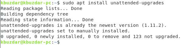 Install automatic update package