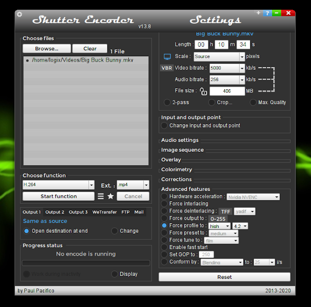 Shutter encoder advanced