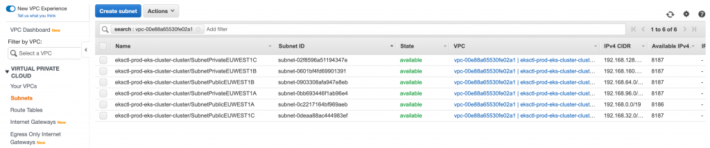 Enable CloudWatch logging in the EKS Kubernetes cluster