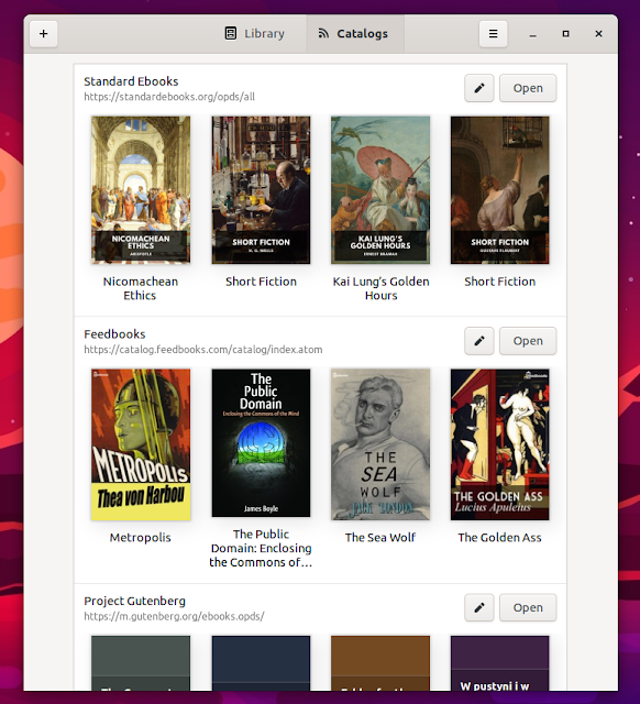 Linux e-book reader Foliate 2.2.0 adds library view, e-book discovery and support for comic books