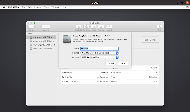 MacOS format HDD Disk Utility