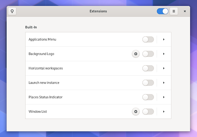New GNOME Shell 3.36 extension application