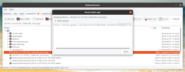Rclone browser public link