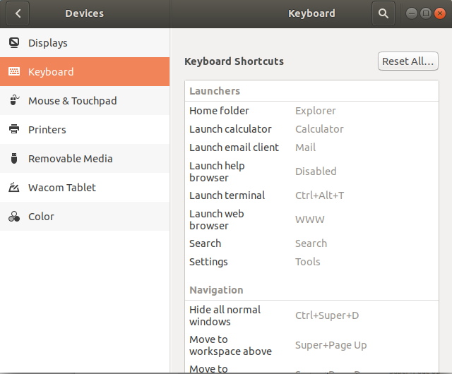 Create keyboard shortcut in Ubuntu