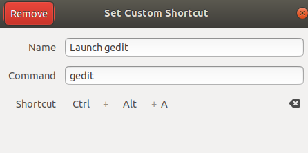 Set your own shortcut